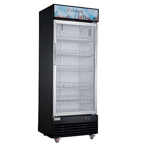 Dukers DSM-15R 14.7 cu. ft. Commercial Single Glass Swing Door Merchandiser Refrigerator