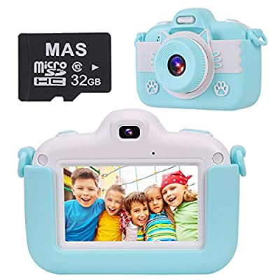 VICOODA Kids Camera, 3 Inch HD Touch Screen Digital Camera Toys for 3-12 Year Old Boys Girls, Selfie Camera Video Game with 32GB SD Card Protective Bag, Gift for Toddlers