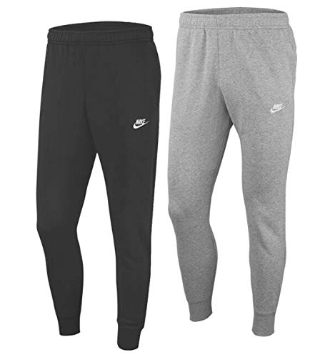 Nike Herren M NSW Club JGGR FT Sport Trousers, dk Grey Heather/Matte Silver/(White), S