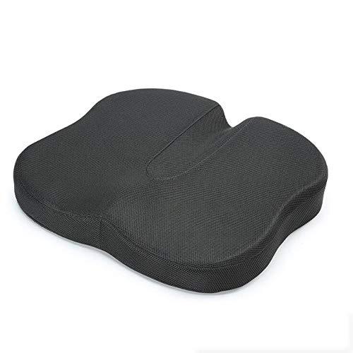 Mémoire mousse coccyx orthopédique coussin de siège, coussin de siège pour le bas du dos douleur et sciatica tailbone douleur soulagement – ajustement pour chaise de bureau, siège de voiture