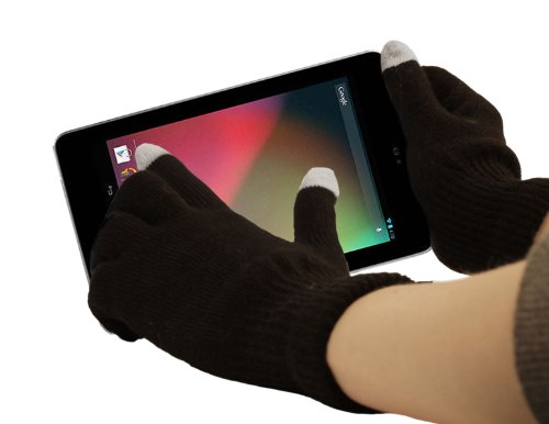 DURAGADGET Guantes Capacitivos Grandes Especiales para Pantalla Táctil De ASUS Google Nexus 7