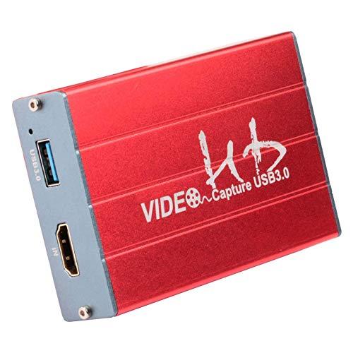 CHENNA NS Interruptor de la Tarjeta de Captura de PS4 Juego Live Box USB portátil de vídeo HD HDMI 1080P Captura HDCP for PS3 PS4 Xbox Wii U Transmisión y grabación