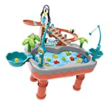 NUOBESTY Penguin Roller Coaster Penguin Toy Magnetic Fishing Toy Toy for Kids Toddler
