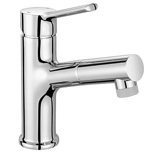 Grifos De Baño Grifo Extraíble Para Baño Lavabo Grifo De Agua Fría Y Caliente De Un Solo Orificio Grifo Giratorio Para Champú