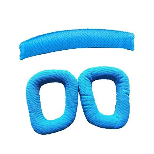 3PCS Almohadillas Desechables cojín del Amortiguador Diadema con Banda de sujeción del Amortiguador del cojín de ratón Almohadillas Cielo Azul de Audio y vídeo Accesorios para Auriculares G430 G930