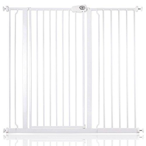 Bettacare barrière d'escalier enfant et animal de compagnie 75cm - 147.8cm (114cm - 121cm, Blanc)