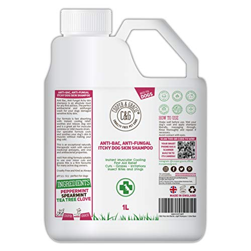 C&G Pets | Dog Shampoo For Itchy Skin Antibacterial And Antifungal | 100% Natural Medicated Low...