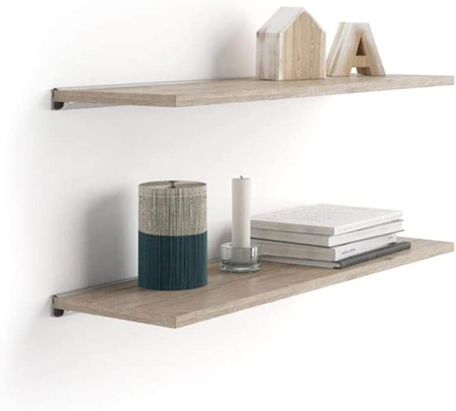 Mobili Fiver A Attention brand 23.6x5.9 in Pair Shelves Limited price Bra with an of Aluminum