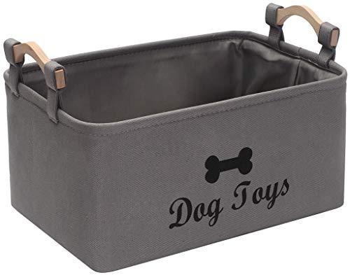 Morezi Caja de juguetes de lona para perros y cajas de juguetes para mascotas, organizador perfecto para organizar juguetes de cachorros, mantas, correas, chaleco, juguete para masticar y ropa