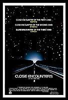 未知との遭遇☆Close Encounters of the Third Kind☆ スピルバーグ、アート映画のポスターフレーム、装飾が施された部屋、最高の贈り物のサイズ14 x 12inch
