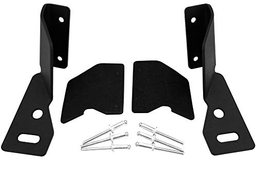 Lower Windshield A-pillar Hinge Mount Brackets for Auxiliary Off-Road LED, HID or Halogen Fog and Work Lights   Compatible with Jeep Cherokee XJ (1984