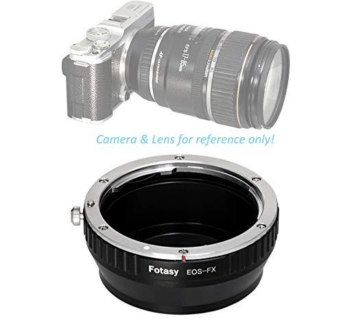 Fotasy Manual Canon EF EF-S Lens to Fuji X Adapter, EOS EFs Lense X Mount Converter, Compatible with Fujifilm X-Pro1 X-Pro2 X-E2 X-E3 X-A5 X-A7 X-A10 X-M1 X-T1 X-T2 X-T3 X-T10 X-T20 X-T30 X-T100 X-H1, FXEF, Black