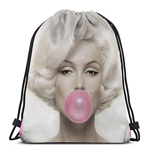 WH-CLA Drawstring Bags Budwei-Ser Bolsas con Cordón Bolsa De Playa Casual para Hombres Bolsas con Cincha De Almacenamiento Al Aire Libre Mochilas con Cordón Únicas Estampado Ligero para