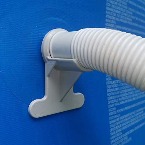 Support de tuyau de piscine (30-37 mm) résistant aux ruptures, déchirures, crevaisons, compatible avec les piscines Intex et Bestway Lot de 1