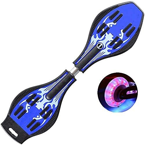 Brand Conquer Aluminium, Alloy Steel Wave Skate Board with Carry Bag LED Flash Colourful Lights on Wheels (31' x 8')Uk, Assorted color