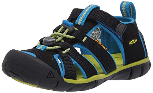Keen Unisex-Kinder 1022984 Seacamp Ii Cnx Sandale, Schwarz(Black/Brilliant Blue), 37 EU