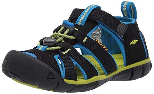 Keen Unisex-Kinder 1022984 Seacamp Ii Cnx Sandale, Schwarz(Black/Brilliant Blue), 35 EU