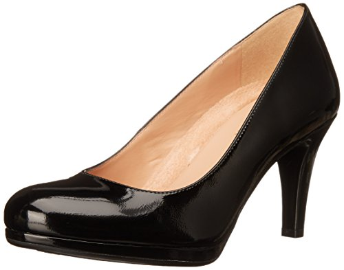 Naturalizer Women's Michelle Dress Pump, Black Shiny, 8