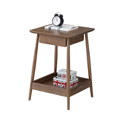 HXGL-Möbel, nachtkastje, nachtkastje, minimalistisch, notenboom, slaapkamer, van massief eikenhout, milieuvriendelijk