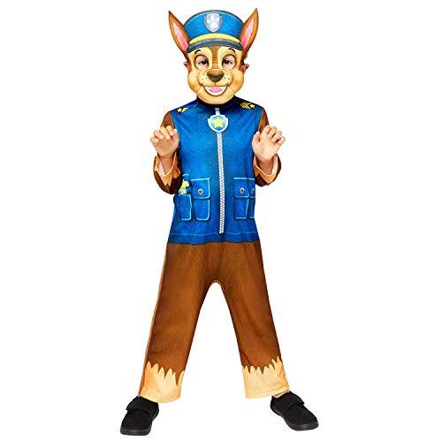 Generique - Disfraz y máscara Chase niño Paw Patrol - 4-6 años (110 cm)