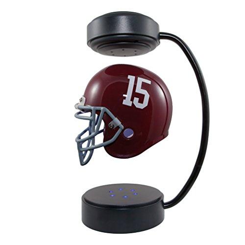 NCAA Casco volador - Casco de fútbol coleccionable de levitación electromagnética con soporte - ALK, Alabama Crimson Tide, Alabama Crimson Tide.