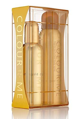 Colour Me Gold Homme - Fragrance for Men - Gift Set 90ml EDP/150ml Body Spray, by Milton-Lloyd