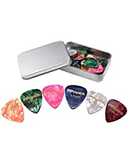 Guitar Picks 48pcs, PPpanda Guitar Plectrums For Your Electric, Acoustic, or Bass Guitar 0.46 0.58 0.71 0.84 0.96 1.2mm