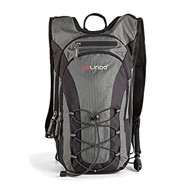 Gelindo Lightweight Hydration Backpack Pack with 2L/ 70oz BPA Free Water Bladder Daypack with Insulated Compartment Outdoor Gear for Trail Running Cycling Camping Hiking 10L