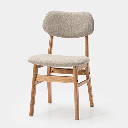 MAZHONG Tabourets Jambes de chêne en bois massif et chaise de salle à manger. Conception moderne courbé en bois dossier et siège Vintage salon cuisine salle à manger meubles (couleur)