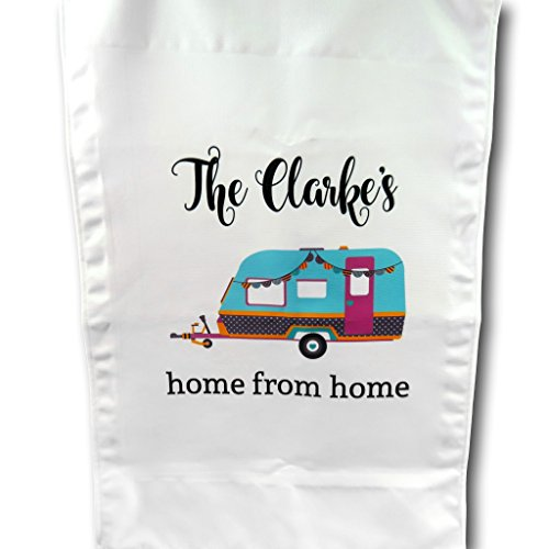 The T Bird Personalised caravan tea towel home from home kitchen gift 2nd...