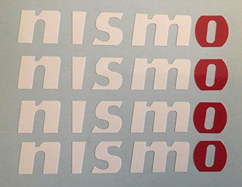 NISSA NISMO GTR SKYLINE R34 350Z 370Z Juke Alu-Aufkleber X4 weiß und rot