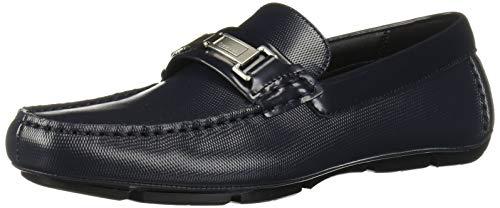 Calvin Klein Herren Karns Driving-Stil, Loafer, Dunkelblaues Leder, 42 EU