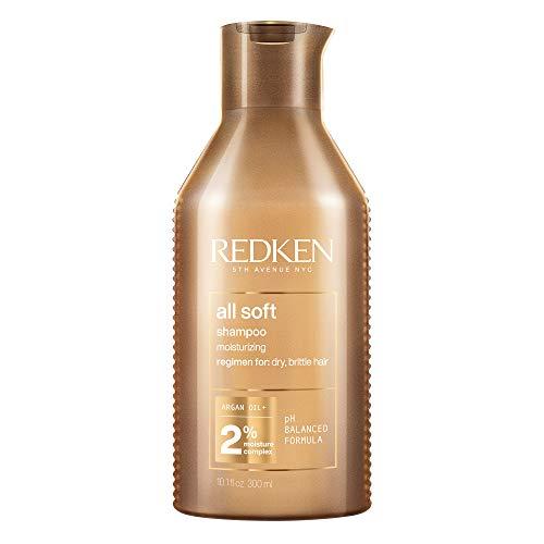 Redken All Soft Shampoo Für Trockenes Haar, Feuchtigkeitsshampoo Mit Argan-Öl & Omega 6, Für Mehr Glanz & Geschmeidigkeit, Anti-Haarbruch, 300ml