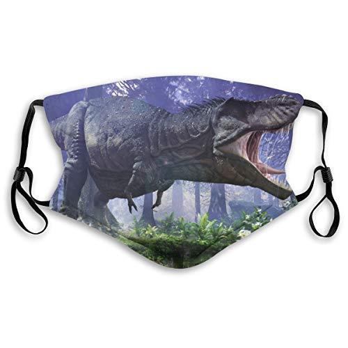 Cubierta facial protectora anti-polvo lavable para la boca,3D Tyrannosaurus Rex pisando fuerte a través de los hum,A prueba de viento reutilizable para ciclismo de esquí al aire libre Camping Running