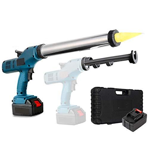 Pistola de Pegamento 2 en 1 sin desmontaje, Pistola de Pegamento de Silicona de Vidrio eléctrica Recargable de 14,4 V 3,0 Ah 6 velocidades