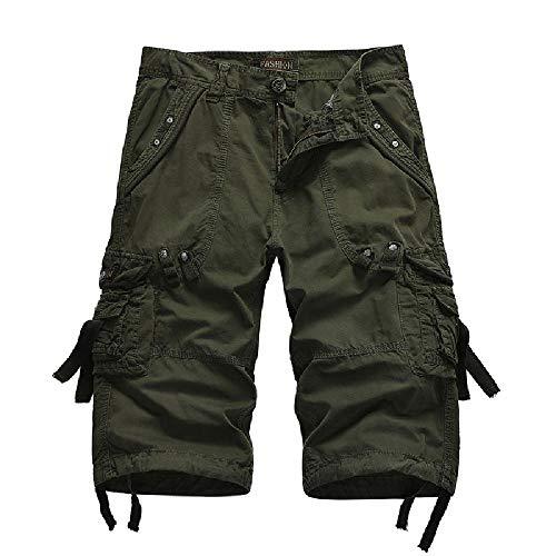 Nobrand 2020 Summer Casual Pants Pantalones de algodón Puro para Hombres Ropa...