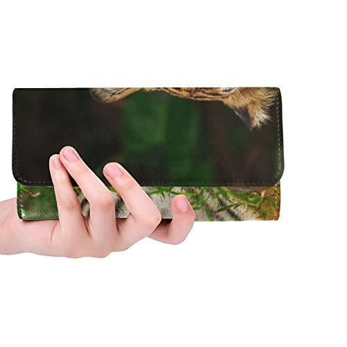 Einzigartige benutzerdefinierte lustige Tiger Face Select Focus Frauen Trifold Wallet Lange Geldbörse Kreditkarteninhaber Fall Handtasche