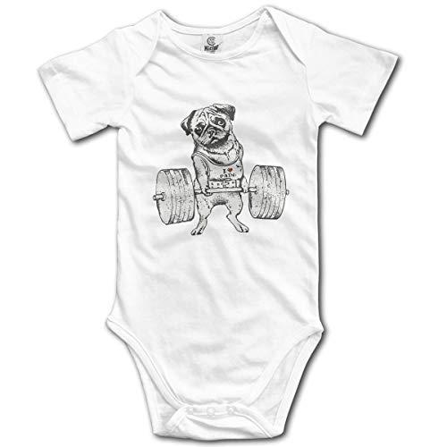 Klotr Ropa para Bebé Niñas Niños Pug Lift Newborn Bodysuits Short Sleeved Romper Jumpsuit Outfit Set