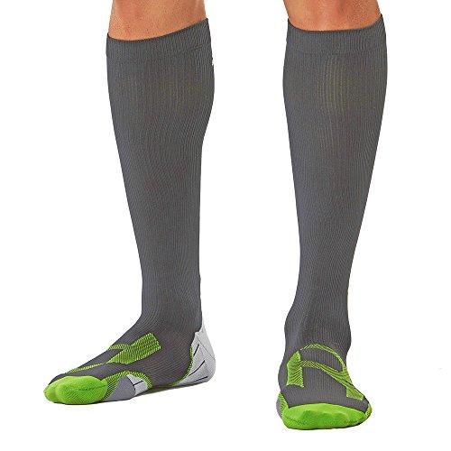 2XU Herren Compression for Recovery MA4423 Socken, Titanium/Grey, Large