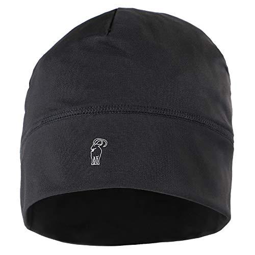 ALPIDEX Running Mütze Sportmütze Laufmütze Damen Herren Funktionsmütze One Size, Farbe:Black