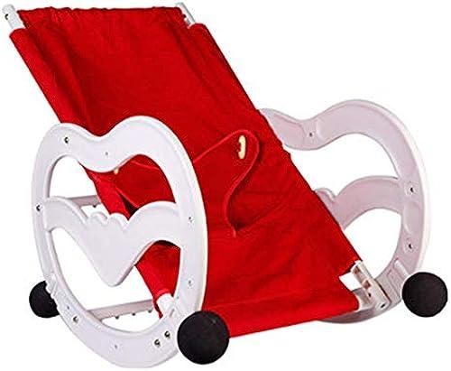 MINISU S ling Multifunktions-Schaukelstuhl für Baby-Schaukeln in DREI Richtungen Dreieckiger Sicherheitsgurt, dehnbares Canvas, rot Reise