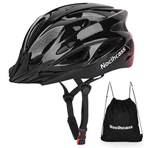 Casco da Bici, Casco Bicicletta con Visiera Solare per Uomo Donna Ragazze Ragazzi per BMX Skateboard MTB Mountain Bike Bici da Strada Regolabile Taglia 57-62 cm. (22.4-24.4 pollici)