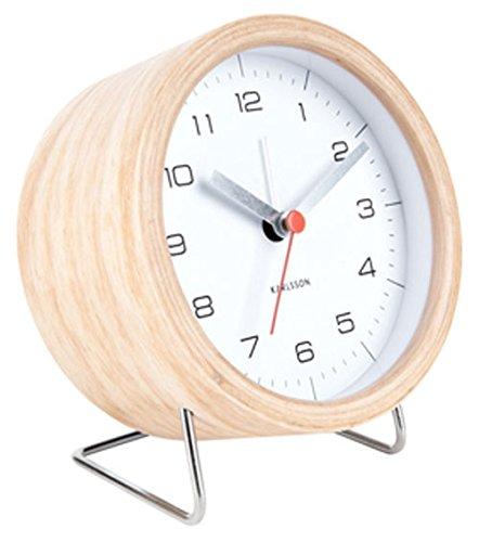 Karlsson KA5669WH Wecker/Alarm Clock - INNATE - Farbe: Holz/weiß