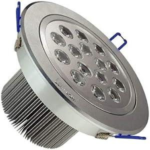LED Ceiling Light, Tensile Aluminum Material Day White Light LED Energy Saving Down Light 15W / 1350LM (SKU : S-led-1262w)