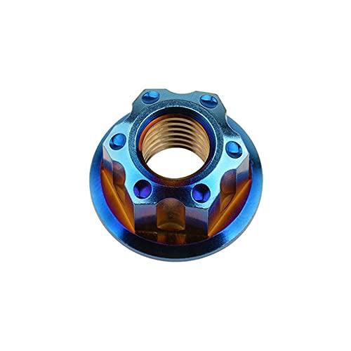 Tuercas hexagonales con reborde Ti M6 M8 M10 M12 M14 M16 Tuercas Tornillos Pernos para motocicleta Bicicleta Accesorios Bicicleta Freno de bicicleta-M12 1.25 mm, Azul