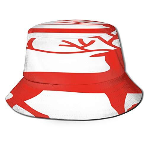 TTLUCKY Fishing Hat,Vector Illustration Christmas Reindeer,Hiking Boonie Safari Sun Caps Traveling for Men&Women for Outdoor Gardening