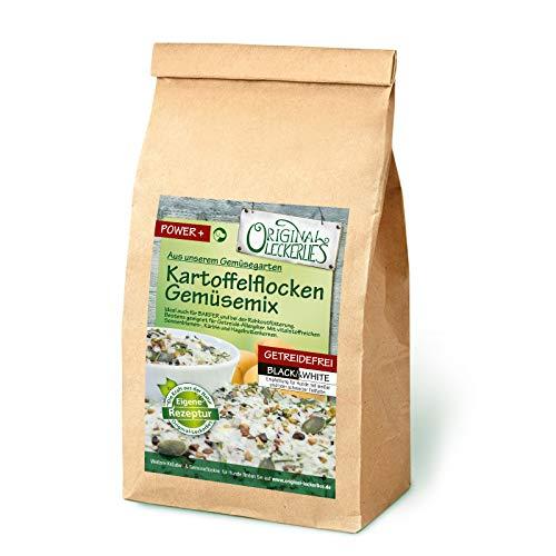 Original-Leckerlies: Kartoffelflocken-Gemüsemix, 2 kg getreidefreie Gemüseflocken, Hundeflocken, Hundefutter- Naturprodukt für Hunde, barfen