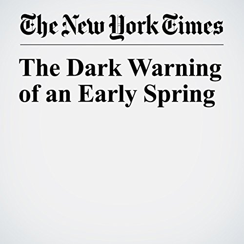 The Dark Warning of an Early Spring copertina