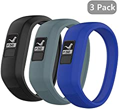 (3 Pack) Seltureone Band Compatible for Garmin Vivofit jr,jr 2,3 Bands, All-in-one Silicon Stretchy Replacement Wristbands for Kids Boys Girls (No Tracker)- Black,Cyan,Blue (Small)