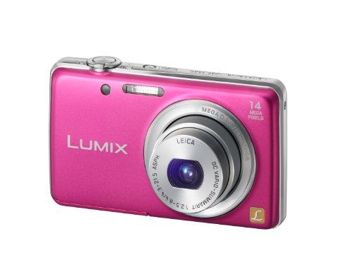 Panasonic Lumix DMC-FS40EG-P Digitalkamera (14 Megapixel, 5-fach opt. Zoom, 6,7 cm (2,6 Zoll) Display, 24mm Weitwinkel, bildstabilisiert) pink
